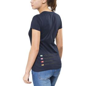 ÖTILLÖ Peach - T-shirt manches courtes Femme - bleu